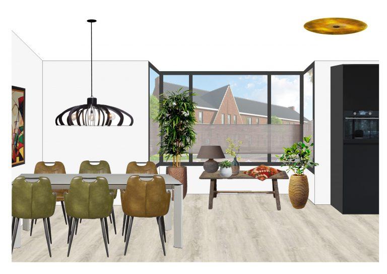 Ontwerp eethoek MB Homedesign