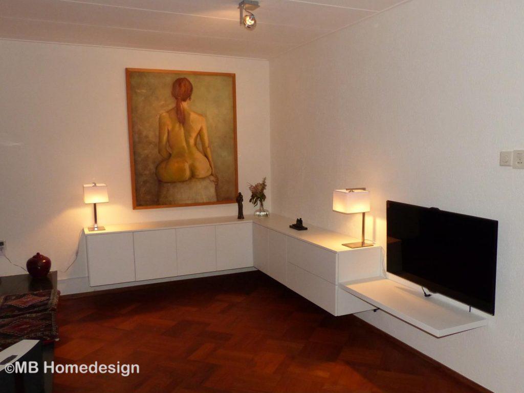 ontwerp laag wandmeubel Renkum MB Homedesign