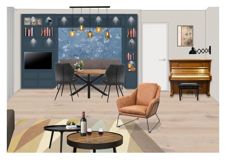 Ontwerp wandmeubel MB Homedesign