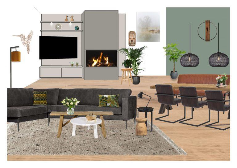 Moodboard woonkamer MB Homedesign