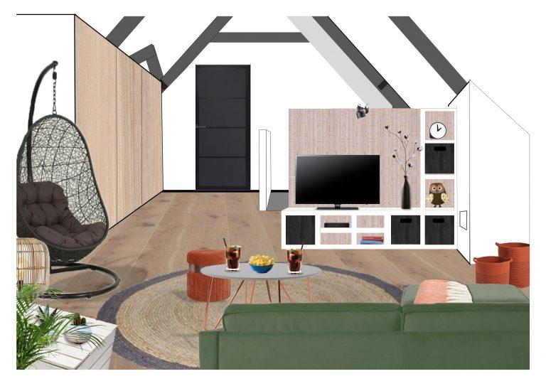 Interieurontwerp zolder MB Homedesign