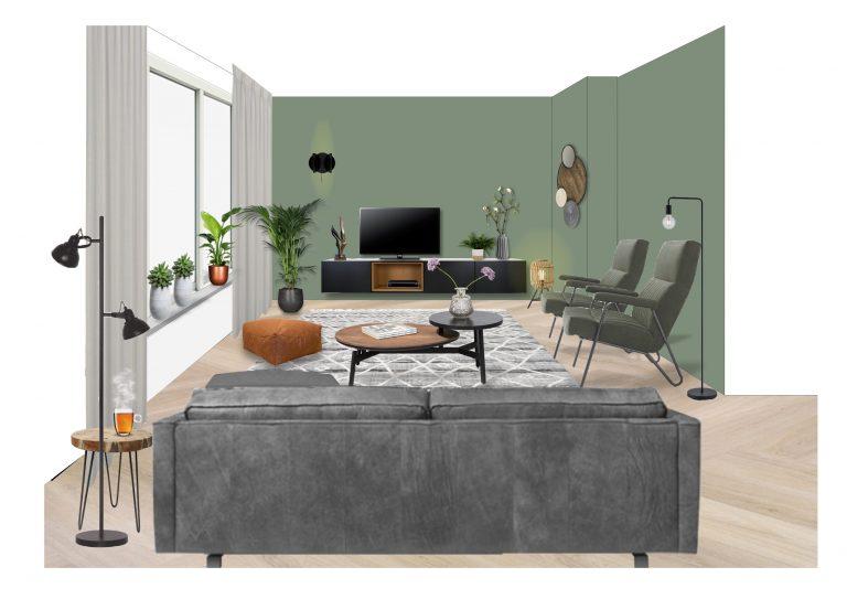 3D ontwerp zithoek MB Homedesign